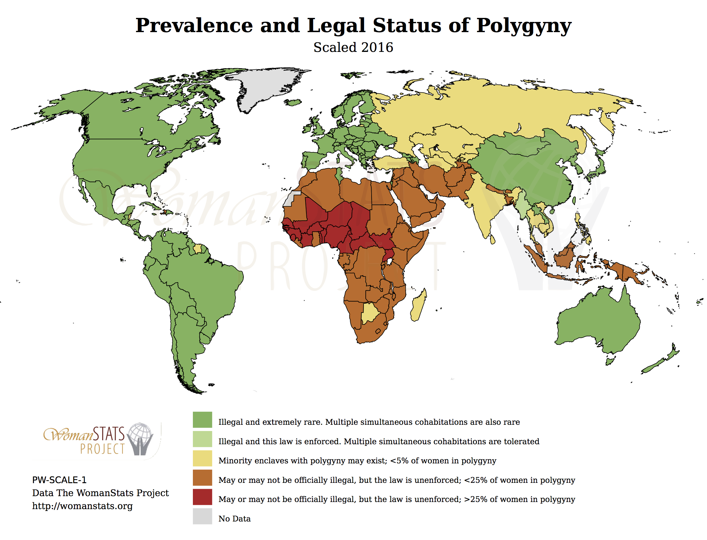 WomanStats Maps - World wide map