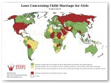 Laws Concerning child Marriage for Girls statistic