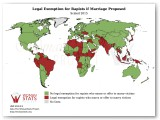 Legal Exemption for Rapists if Marriage Proposed Statistic