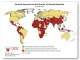 Societal Sanction for the Murder of Women/Femicide Statistic